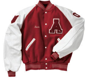 Raglan sleeves, varsity jackets, varsity jackets with raglan sleeves