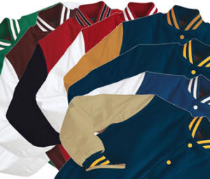 CLICK HERE TO VIEW AND BUY Holloway Varsity Letterman Jackets. 18 styles of varsity jackets in stock ready to ship.
