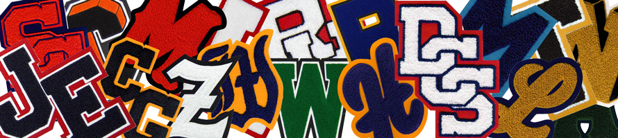 Chenille Letters - Varsity Letters - Chenille Patches - Award Letters - High School Award Patches - Varsity Chenille Letter Patches